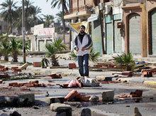 Straßenblockaden in Tripolis; Foto: AP
