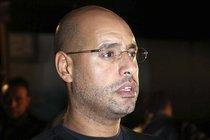 Saif al-Islam Gaddafi in Tripolis am 23. Februar 2011; Foto: AP, Xinhua, Hamza Turkia