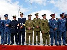 Libysche Offiziere in Sirte, Gaddafis Geburtsort; Foto: AP