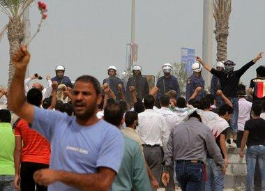 Proteste der Opposition in Bahrain; Foto: AP