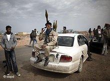 Aufständische in Libyen; Foto: dapd