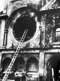 Reichskristallnacht in Berlin; Foto: AP