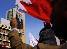 Demonstration vor der saudi-arabischen Botschaft in Manama; Foto: Hasan Jamali/AP/dapd