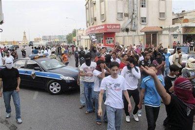 Schiitische Proteste in al-Qatif; Foto: STR/AP