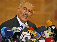 Jemens Präsident Saleh; Foto: dapd