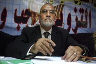 Führer der ägyptischen Muslimbruderschaft, Mohammad Badie in Kairo; Foto: AP/Dapd
