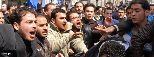Demonstration gegen Baschar al-Assads in Damaskus; Foto: AP/dapd