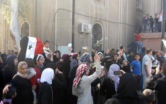 Proteste gegen die Regierung in Daraa im April 2011; Foto: AP