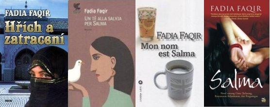 Titelbilder der tschechischen, italienischen, französischen und indonesischen Ausgabe von 'My name is Salma' (v.l.n.r.)