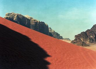 Das Wadi Rum - Foto von Boris Becker aus seiner Ausstellung