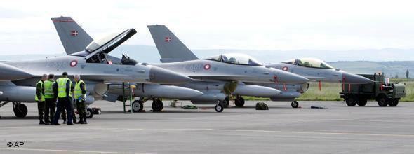 Nato-Kampfflieger in Sizilien; Foto: AP