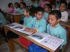 Schüler in einer Grundschule in Tunis; Foto: AP