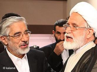 Mir Hossein Mussawi und Mehdi Karroubi; Foto: Kaleme