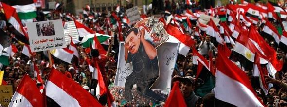 Demonstration auf dem Tahrir-Platz; Foto: dapd