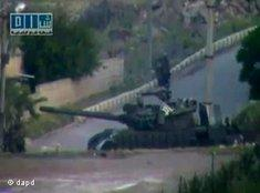 Panzer in Daraa, der Hochburg der Aufständischen gegen das Assad-Regime; Foto: dapd