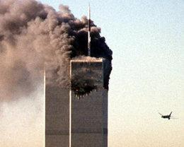 Die Terroranschläge auf das World Trade Center in New York am 11. September 2001; Foto: dpa