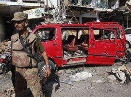 Schauplatz des Rache-Anschlags der pakistanischen Taliban in Peshawar nach der Tötung Osama bin Ladens; Foto: AP/dapd