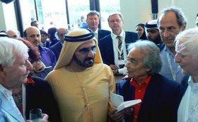 Adonis mit Scheich al-Maktum in Dubai; Foto: Günther Orth