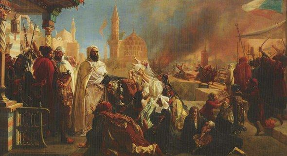 Orientalistisches Gemälde von Jean-Baptiste Huysmans; Foto: Wikipedia