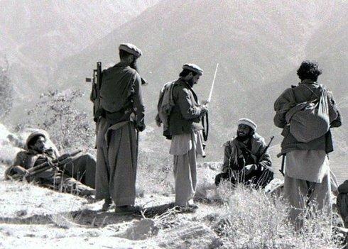 Afghanische Mujahidin-Kämpfer 1987; Foto: Wikipedia