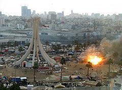 Beseitigung des Monuments auf dem Perlenplatz; Foto: AP