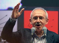 CHP-Oppositionschef Kilicdaroglu; Foto: AP
