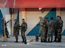 Syrische Armee in Latakia; Foto: AP