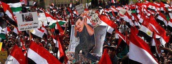 Demonstration gegen Mubarak in Kairo; Foto: dapd