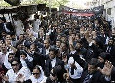 Demonstration für Bürgerrechte in Islamabad; Foto. dpa