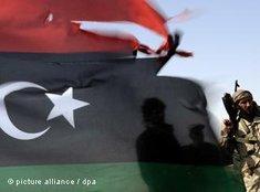 Rebellen im libyschen Misrata; Foto: dpa
