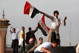 Proteste während der Freitagsgebete in Kairo; Foto: AP
