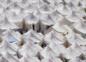 Tent city in Boynuyogun/Turkey (photo: dpa)