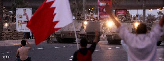 Proteste in Bahrain im Februar 2011;  Foto: AP