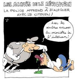 Karikatur Die Errungenschaften der Revolution