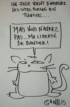 Karikatur Nadia Khiaris: Willis from Tunis
