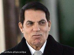 Tunesiens Diktator Ben Ali; Foto: dpa