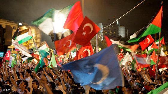 Solidaritätsveranstaltung für Palästina in Istanbul; Foto: AP