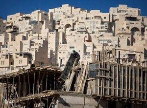 Israelischer Siedlungsbau in Ostjerusalem; Foto: AP