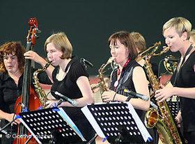 Die Jazz-Musikerinnen auf der Bühne; Foto: Goethe Institut