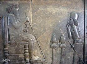Relief von König Darius; Foto: DW/Uta Thofern