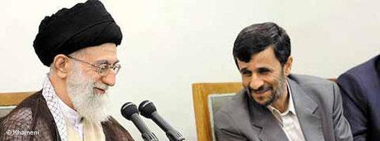 Ahmadinedschad und Khamenei; Foto: &copy Khamenei