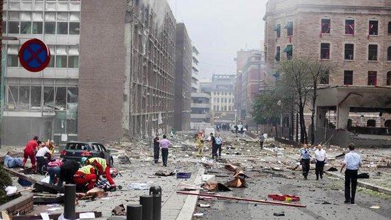 Anschlag auf das Regierungsgebäude in der Hauptstadt Oslo; Foto: dapd
