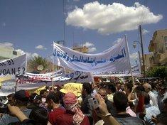Demonstration kurdischer Bewohner der Stadt Qamishli im Norden Syriens; Foto: AP