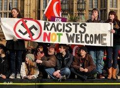 Anti-Wilders-Protest in London 2010; Foto: AP