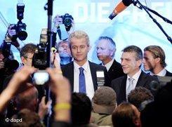 Der niederländische Rechtspopulist Geert Wilders in Berlin; Foto: dapd
