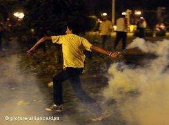 Gewalt in Kairos Straßen am 29. Juli 2011; Foto: dpa
