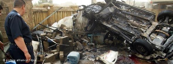 Autobomben-Attentat in Kirkuk im Mai 2011; Foto: dpa/Kahlil Al-Anei