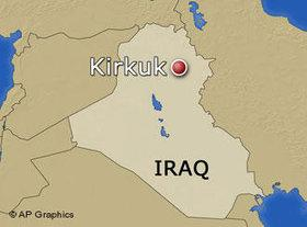 Karte von Kirkuk/Irak; Foto: AP