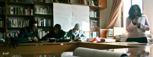 Palästinensische Studentinnen an der Al-Quds-Universität im Westjordanland; Foto: AP