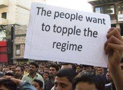 Proteste in der syrischen Stadt Banyas; Foto: AP